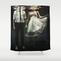 abyss of the disheartened : IV Shower Curtain by Heather Landis