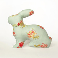 Easter Bunny Home Decor - Green Rabbit Eco-Friendly - Sleepy Soft Toy - Holiday Gift Decorations