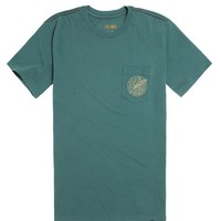 RVCA Quill Pocket T-Shirt - Mens Tee - Green