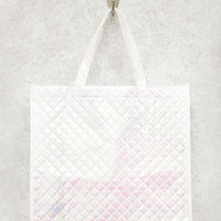 Iridescent Quilted Eco Tote Bag