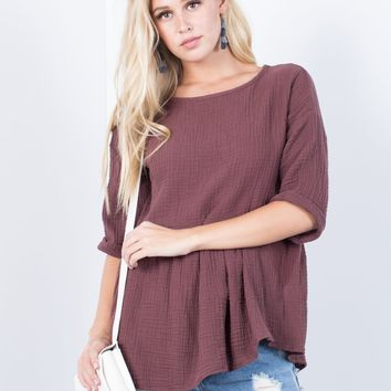 Lila Ruffled Top