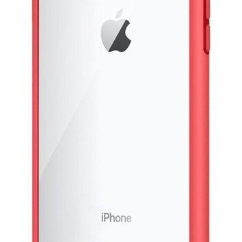 Spigen Ultra Hybrid [2nd Generation] Iphone 7 Plus Case / Iphone 8 Plus Case With Clear Backing Camera Protection And Air Cushion Technology For Iphone 7 Plus (2016) / Iphone 8 Plus (2017)   Red