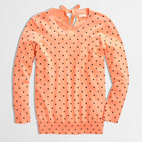 Factory keyhole sweater in dot - Sweaters - FactoryWomen's New Arrivals - J.Crew Factory