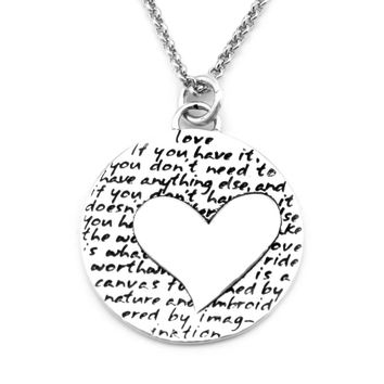 Heart Necklace (Love)-D40