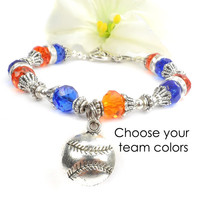 Baseball Bracelet, Girls Softball