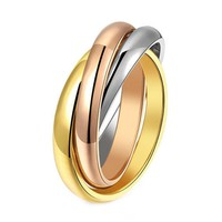Tightly Wound Fashion Classic Titanium Steel Rings For Women Anillos