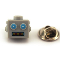 Clockwork Robot head Tie Pin, Tie Tack Pin, Men's Tie Tacks, Tie Tac, Silver Tie Clip, Tie Clips Men, Wedding Clip, Tie Tack