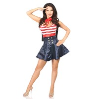 Daisy Top Drawer 2 PC Pin-Up Sailor Corset Dress Costume