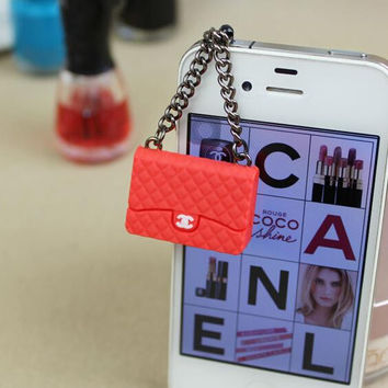 Korean Style Cell Phone 3.5mm Earphone Cap Designer Bag Coco Chanel Iphone Samsung Galaxy HTC Trendy Hot