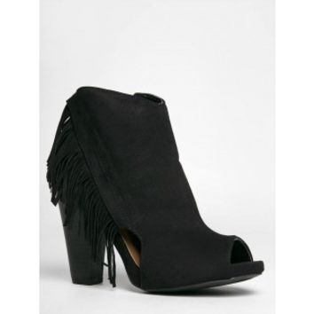 Bailey Fringe Bootie Black