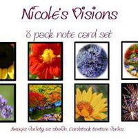 Notecard 8 pack 13 by NicolesVisions on Zibbet