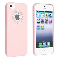 iPhone SE Case, Insten Snap-on Case Compatible with Apple iPhone 5SE / 5S / 5, Light Pink Sweetheart