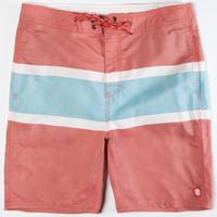 Element Malibu Mens Hybrid Shorts - Boardshorts And Walkshorts In One Red  In Sizes