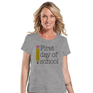 Funny Teacher Shirt - First Day of School Shirt - Teacher Gift - Teacher Appreciation Gift - Teacher Appreciation - Gift for Teacher - Grey