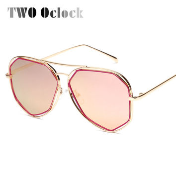 Oversized Big Frame Mirror Sunglasses Women 2016 Summer Outdoor Goggles Retro UV400 Coating Sun Glasses Hexagon Sunglases A8302