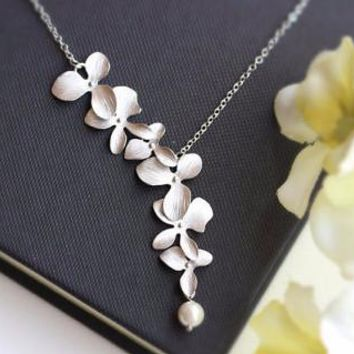 Orchid Flower Necklace