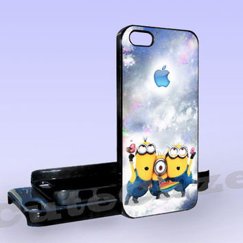 Despicable Me Apple Logo nebula - Print on Hard Cover - iPhone 5 Case - iPhone 4/4s Case - Samsung Galaxy S3 case - Samsung Galaxy S4 case