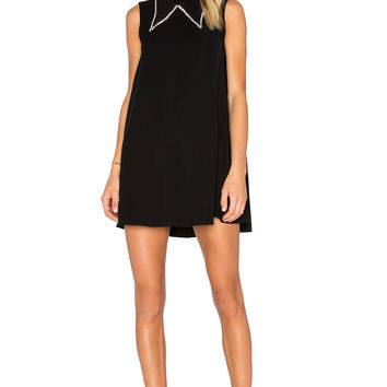 McQ Alexander McQueen Collar Trapeze Dress in Black