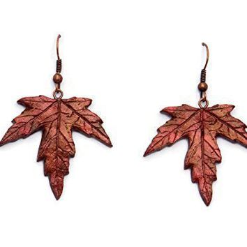 Maple Leaf Dangle Earrings in Stunning Fall Colors