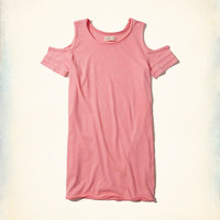 Girls Cold Shoulder T-Shirt Dress | Girls New Arrivals | HollisterCo.com