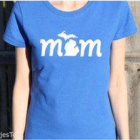 Michigan Mom Shirt, Michigan T-shirt, Michigan mitten