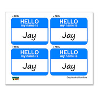 Jay Hello My Name Is - Sheet of 4 Stickers