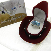 Limited Quantity Swarovski Crystal Ring The 46th Annual CMA Awards Aquamarine Hexagon