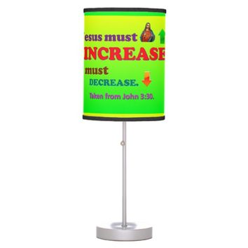 Jesus Must Increase! I Must Decrease! Desk Lamp