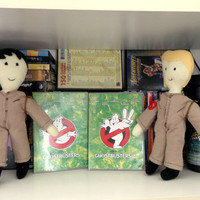 Handmade Ghostbuster Plushie with Proton Pack (boy / girl Ghostbuster Doll made of Fleece, Cotton, Felt and Yarn)