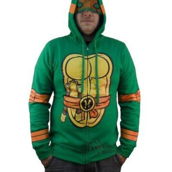 Teenage Mutant Ninja Turtles Michelangelo Costume Zip Up Hoodie