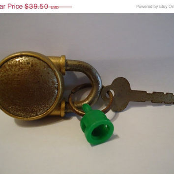 1940's Vintage Antique Miller 101 Padlock Collectible Steampunk Industrial Lock Home Decor Man Cave Supply