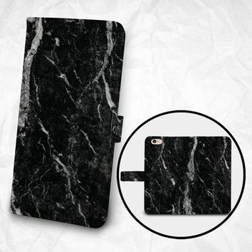 iPhone 8 case iPhone 8 Plus case, Samsung Galaxy S9 case, Samsung Note 9 Faux leather flip cover Book Phone case Wallet case - Marble