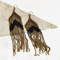Beaded Fringe Drop Earring - Urban Outfitters