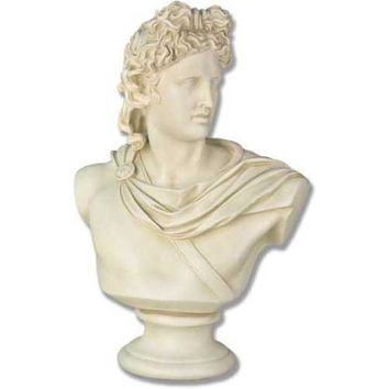 Apollo Belvedere Greek Statue Bust 14 to 38H