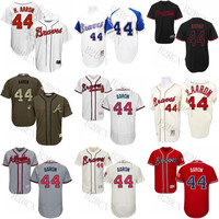 MEN'S/Youth White 1974 Throwback White 1963 Throwback Hank Aaron Replica Jersey , Men's #44 Mitchell And Ness Atlanta Braves