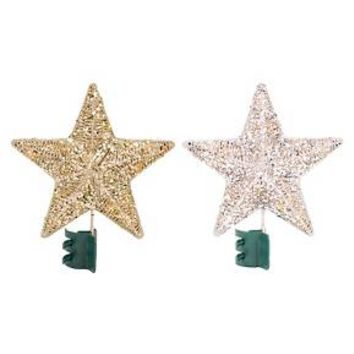 Lit LED Wrapped Star Tree Topper Assorted : Target
