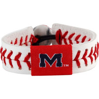 NCAA Ole Miss Rebels Classic Baseball Bracelet