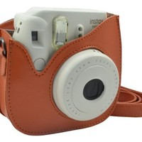 Katia PU Leather Fujifilm Instax Mini 8 Case Bag with Shoulder Strap for Fujifilm Instax Mini 8 Camera (Orange 1)