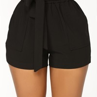 Jessie High Waisted Shorts - Black