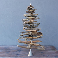 Driftwood Christmas Tree Coastal Christmas Decor - Driftwood Home Decor