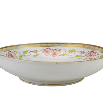 Porcelain Serving Bowl with Handles by Nippon Antique Japanese circa 1915