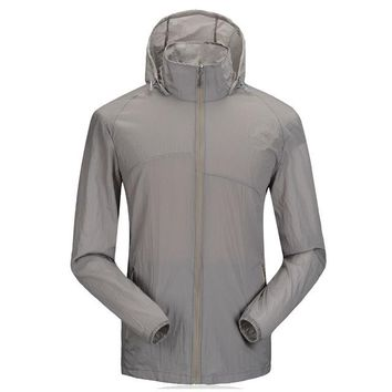 Women/Men Summer Outdoor Hooded Patchwork Jacket Sun Protective Climbing Hiking Jackets Sport Ultralight Breathable Hunting Coat