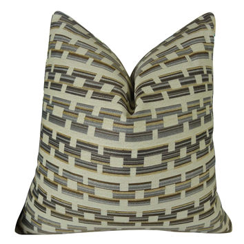 Plutus Square Link Handmade Throw Pillow