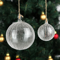 Handmade Christmas Tree Glass ball Pendant Christmas Trees Ornament Holiday party Decoration