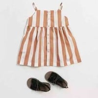 2018 summer bobo choses stripe  cotton sleeveless  girls dresses for girls kikikids nununu baby girl clothes kids clothes 3-10