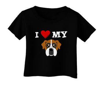 I Heart My - Cute Boxer Dog Infant T-Shirt Dark by TooLoud
