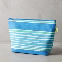 Waterstripe Cosmetic Bag by Anthropologie Blue All Bags