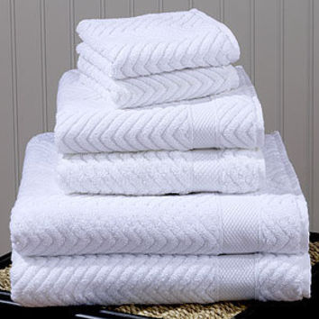 White Chevron Cotton Towels | Bathroom| Bed & Bath | World Market