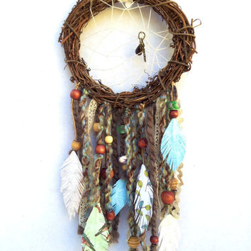 "Dreamcatcher original handmade design ""Free to Dream"" by SunChickie Arts"