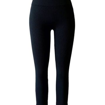 Girls Seamless Cable Fleece Knitted Leggings INO.CC30846!
